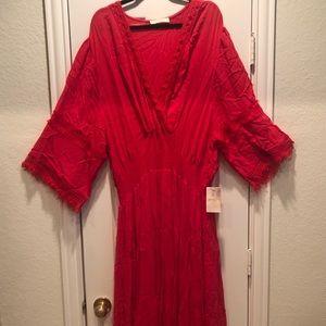 Red Boho Maxi Dress 22/24